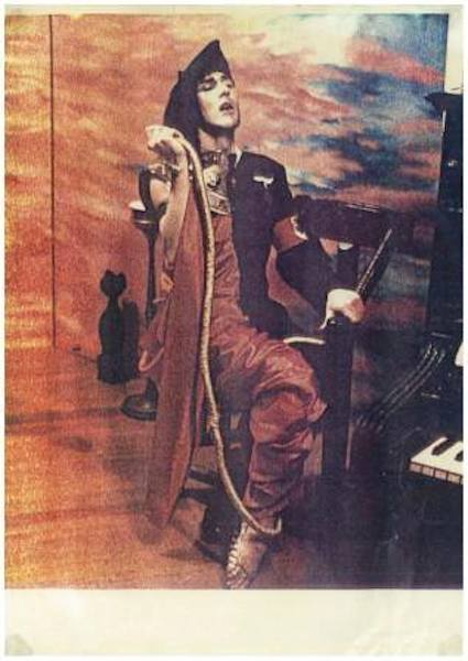 Tim McKew performing at St Kilda's Tolarno Galleries in 1979.