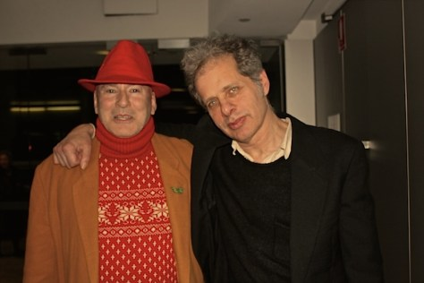 Tim Mckew and Richard Lowenstein at the opening of Ecco Homo