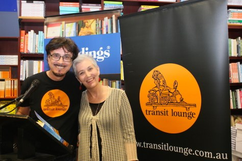 Barry Scott from Transit Lounge Publishing with Margi Gibb