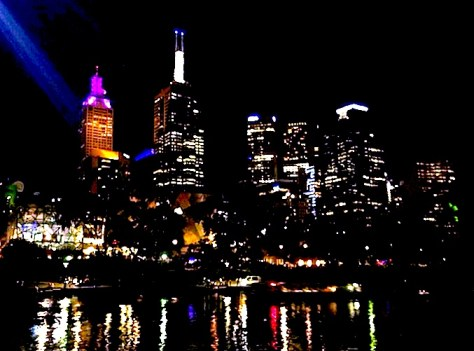 Lights of Melbourne from the Yarra River