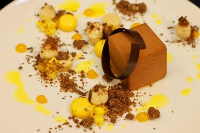 קוביית מוס שוקולד