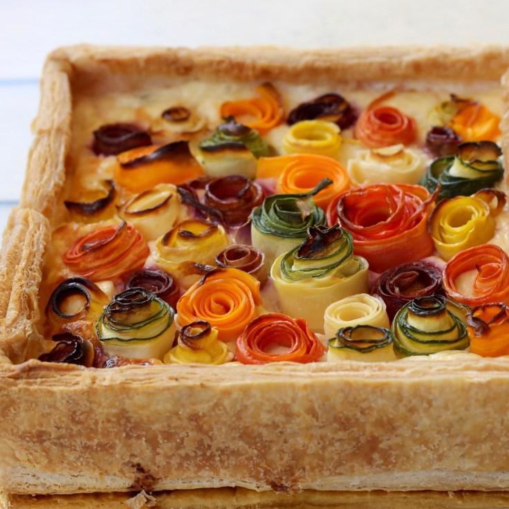 מאפה גבינות וגזר צבעוני