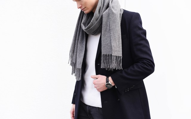 Acne Canada Scarf & Double-breasted Coat