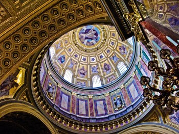 Cupola of the St.Stephen's Basilica in Budapest