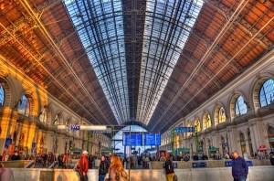 Inside Budapest Hungary Train Station