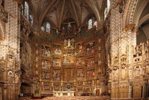 Catedral de Toledo, Spain - Large skylight cut high in the ambulatory behind the high altar