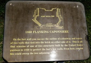 Plaque at Fort Moultrie
