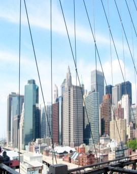Brooklyn Bridge View of Lower Manhattan