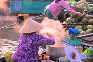 Cantho Vietnam floating kitchen