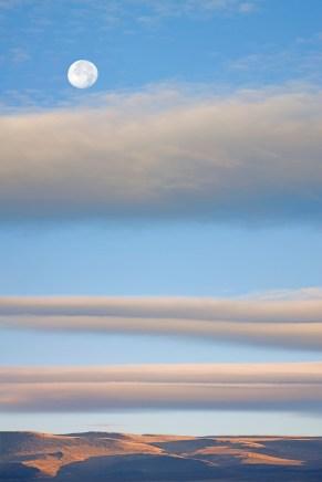 Sunrise & Moon, Summer Lake, OR