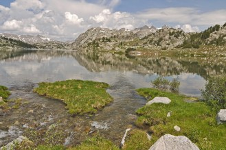 Wind river rivulet and reflection