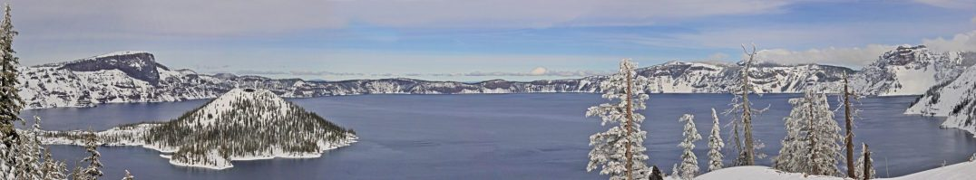 Crater Lake Cloudline in Winter