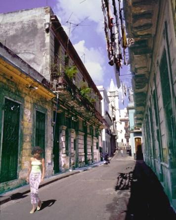 Girl Strolling in Havana