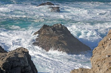 monterey waves rocks
