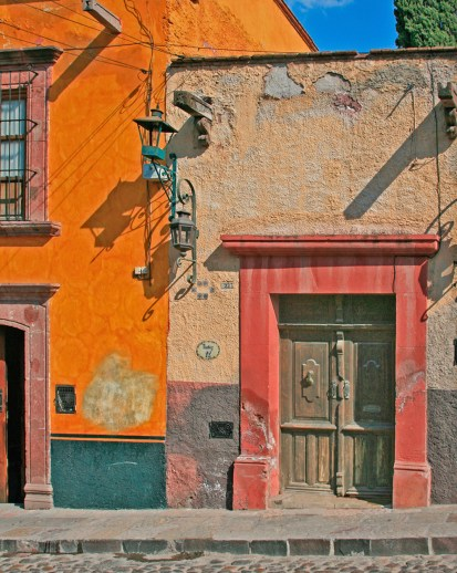 sm wood door orange building