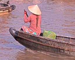 woman paddling