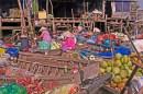 Food Boats at Dock,Mekong River