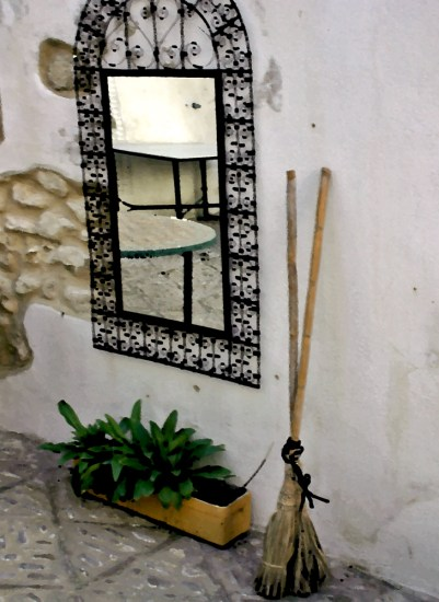 Mirror and Broom Painting
