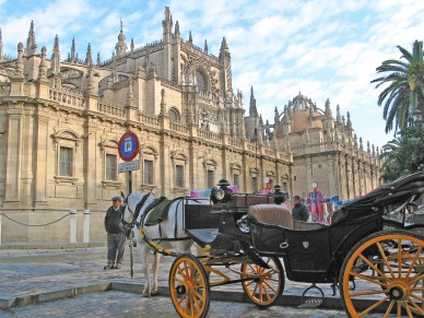 Seville Cathedral Horse Cart
