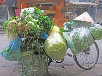 Vegetables on Bike, Hanoi