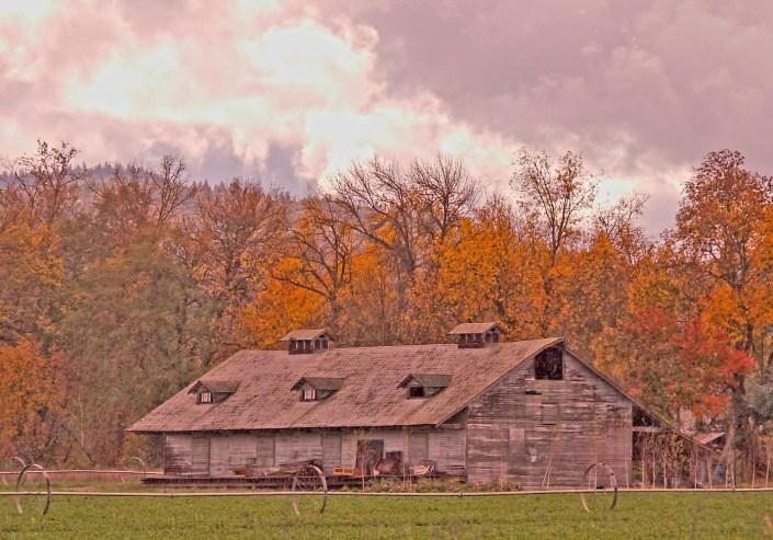 ashland barn sunset autumn