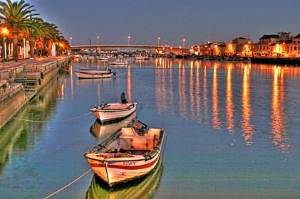 tavira boats at night copy