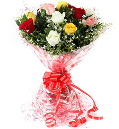10 Mix Roses Bouquet in patna