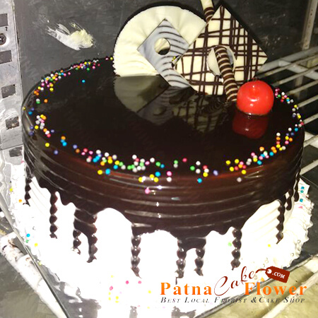 Choco-Vanilla-Fusion-Cake-delivery-in Patna Kankarbagh Khagaul