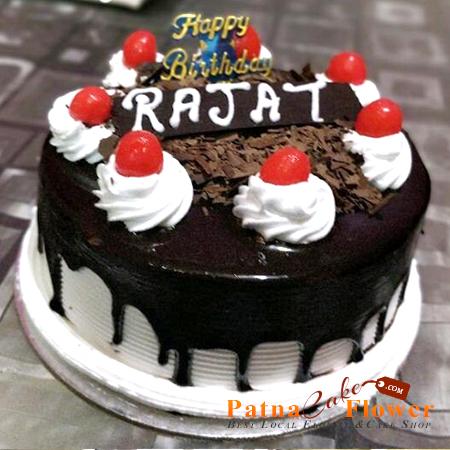 chocolate vanilla round shape cake Danapur Patna Khagaul Phulwari Sharif Kankarbagh Mithapur