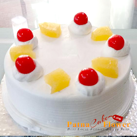 Pineapple cake eggless delivery danapur patna prices list