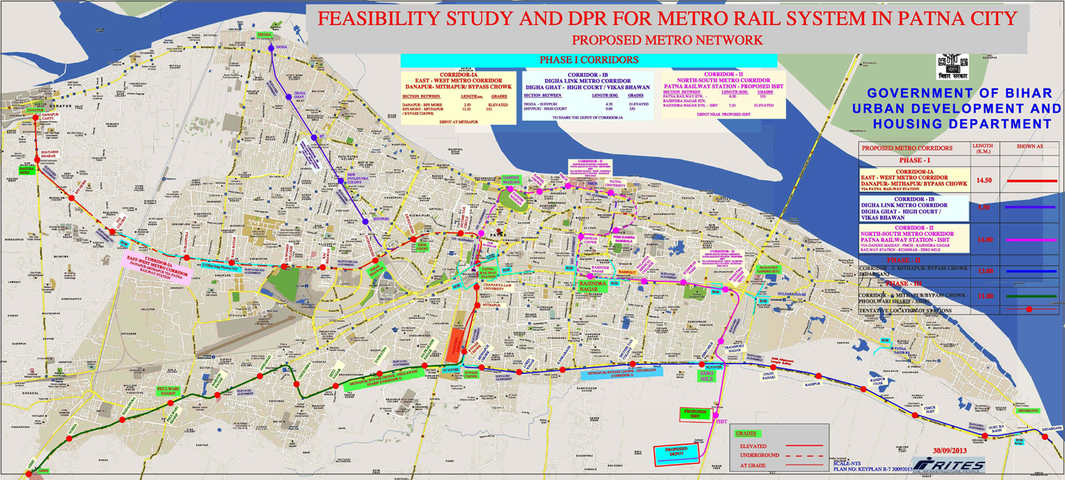 Plan of Patna Metro