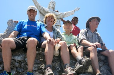 Four intrepid Kiwis (Paul, Liz, Pip and me) enjoy the 360-degree views, including Timor's south and north coast. On 2 November, All Souls Day, thousands of Timorese clamber on and around the mountain top, paying homage to their ancestors.