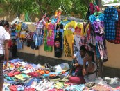 Markets and street stalls have sprung up around Dili to meet the demand for new clothes, a must for Christmas Day.