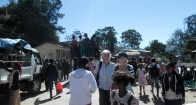On Sunday morning, Julia and me wander through the Maubisse market, an exuberant affair which draws a big crowd.