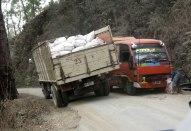 Trucks squeeze