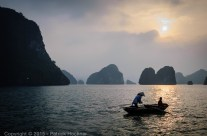 Sunset on Ha Long Bay, Vietnam