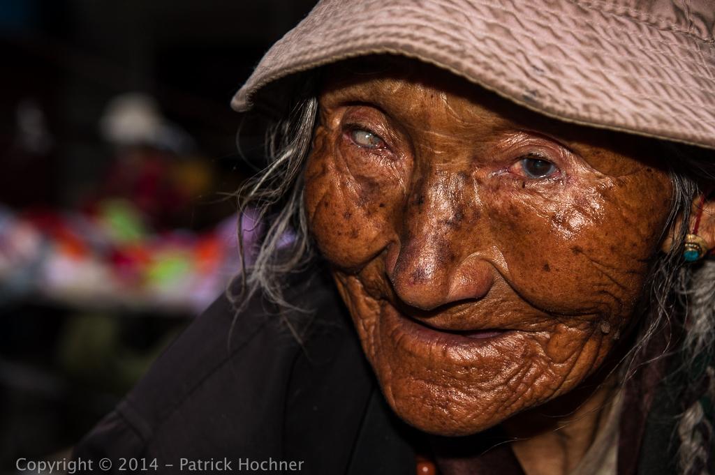 Tibetan face, Lhasa, Tibet