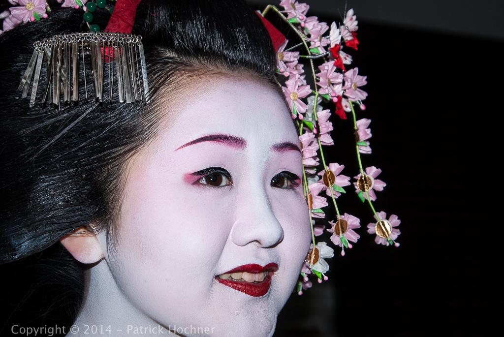 Portrait d'une Maiko, Kyoto, Japon