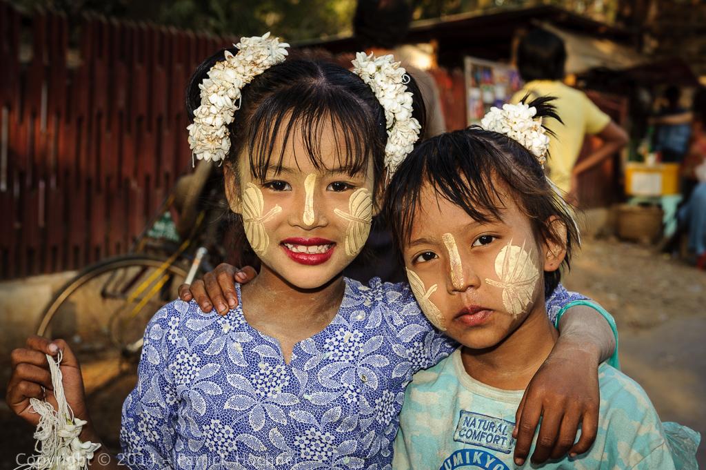Young Burmese girls, Mandalay