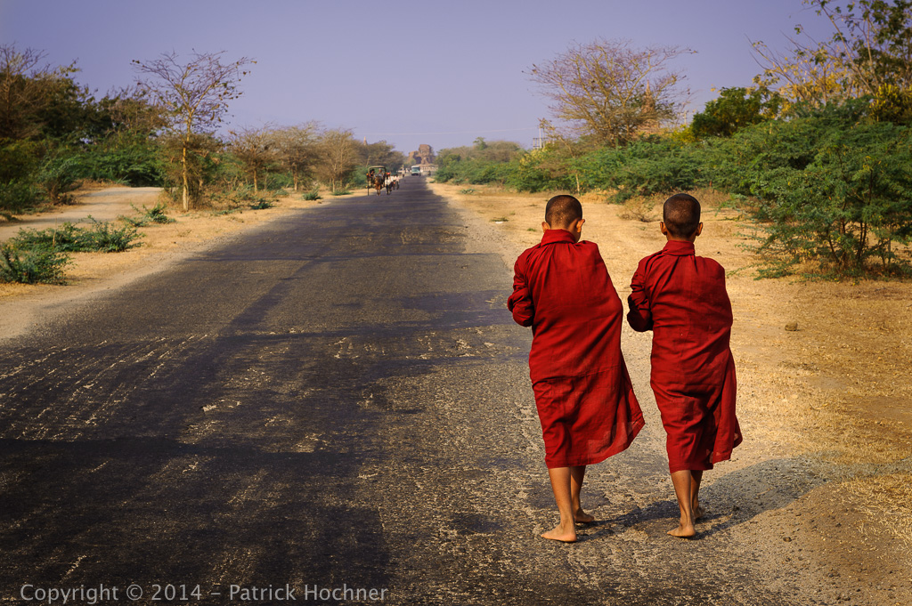 On the road, Bagan, Burma (Myanmar)