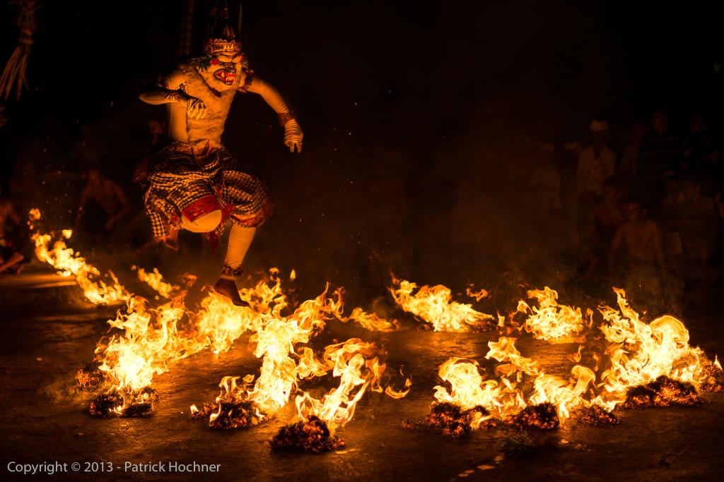 Kecak and fire dancer, Bali