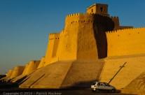 Itchan Kala walls, Khiva, Uzbekistan