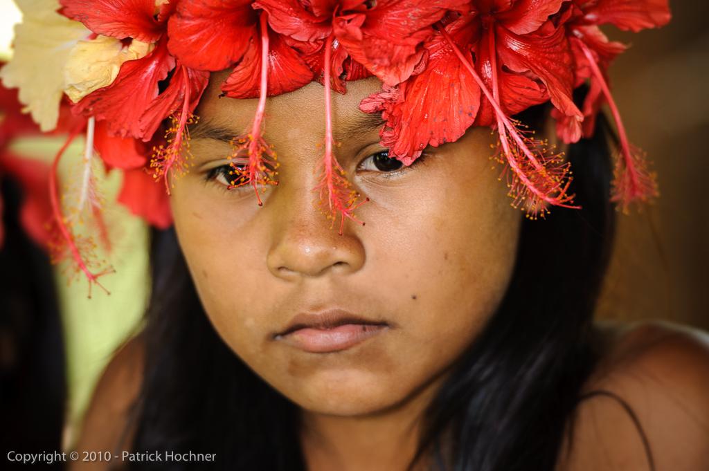 Jeune indienne Embera, Panama