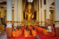 Ceremony in Buddhist Temple, Chiang Mai, Thailand