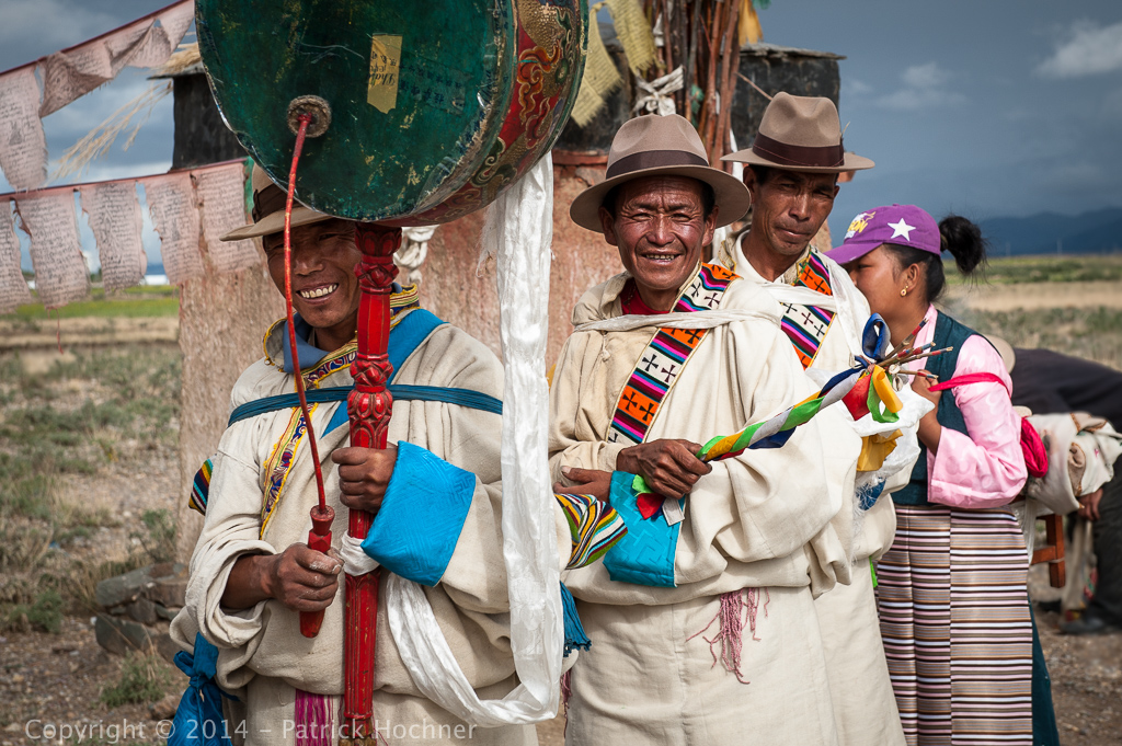 Tibetan ceremony, on the way to Lhasa, Tibet