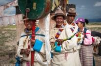 Tibetan ceremony, on the way to Lhasa, Tibet