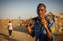 Afar policeman, Armadilla, Ethiopia