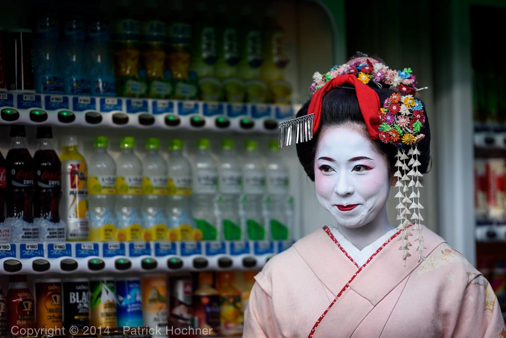Maiko Taiken dans les rues de Kyoto, Japon