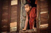 De la fenêtre du monastère, Birmanie