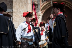 Change of the guards, Kravat Regiment, Croatia